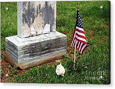 Remembering The Fallen On Memorial Day Acrylic Print