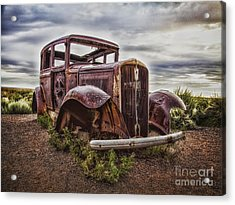 Remembering U.s. Route 66  ... Acrylic Print by Chuck Caramella