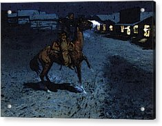 Remington Frederic An Arguement With The Town Marshall Acrylic Print