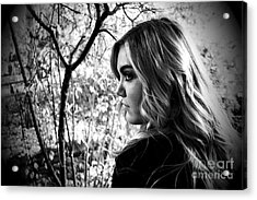 Reminiscing In The Park Acrylic Print by Krissy Katsimbras