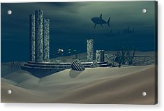 Remnant Of Atlantis Acrylic Print by Claude McCoy