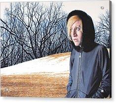 Remote Acrylic Print by Denny Bond