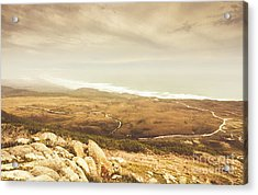 Remote Roads And Foggy Coastlines Acrylic Print
