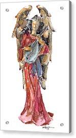 Renaissance Angel Acrylic Print by Claudia Hafner