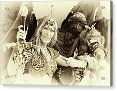 Acrylic Print featuring the photograph Renaissance Festival Barbarians by Bob Christopher