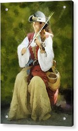 Renaissance Fiddler Lady Acrylic Print by Francesa Miller
