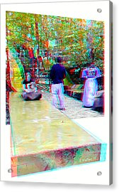 Acrylic Print featuring the photograph Renaissance Slide - Red-cyan 3d Glasses Required by Brian Wallace