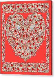 Renaissance Style Heart Acrylic Print