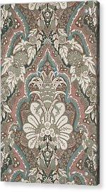 Renaissance Textile Pattern Acrylic Print