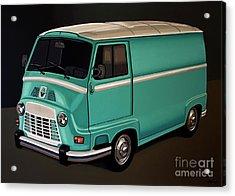 Renault Estafette 1959 Painting Acrylic Print