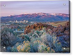 Acrylic Print featuring the photograph Reno Nevada Spring Sunrise by Scott McGuire