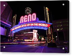 Reno - The Biggest Little City In The World Acrylic Print by Shawn Everhart
