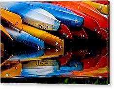 Rental Canoes Acrylic Print