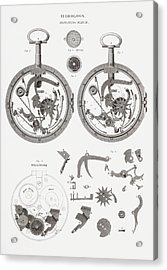Repeating Watch. From The Cyclopaedia Acrylic Print by Vintage Design Pics