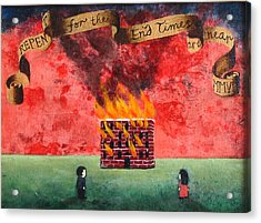 Repent For The End Times Are Near Acrylic Print by Pauline Lim