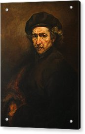 Replica Of Rembrandt's Self-portrait Acrylic Print