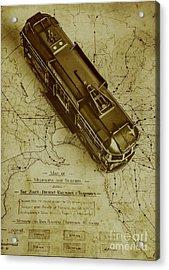 Replicating Past Tram Transit Acrylic Print