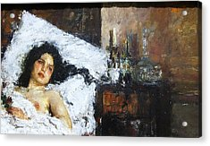 Reposo Acrylic Print by Pg Reproductions