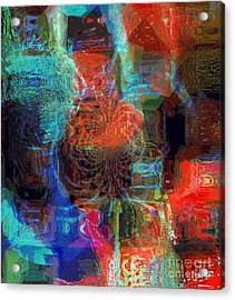 Representational Of Things In Between Acrylic Print by Fania Simon