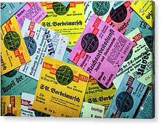 Reproductions Of Tickets For Events Of The Nazi Party. Acrylic Print