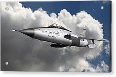 Republic F-105 Thunderchief Acrylic Print by Larry McManus