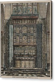 Reredos Chapel Of Aukland Castle 1884 Acrylic Print by Dodgson Fowler