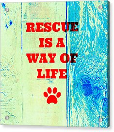 Rescue Is A Way Of Life Acrylic Print