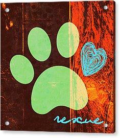 Rescue Paw 1 Acrylic Print
