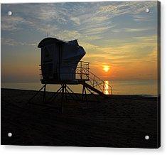 Rescue Tower Sunrise Acrylic Print by Zachary Liaros