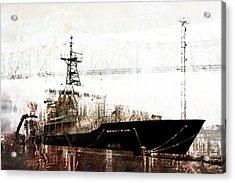 Research Vessel Atlantis In Astoria Oregon Acrylic Print