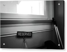 Reserved Acrylic Print
