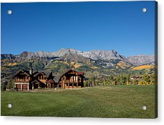 Residences In Mountain Village -- A Planned Community Adjacent To Telluride Acrylic Print by Carol M Highsmith
