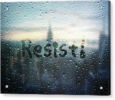 Resistance Foggy Window Acrylic Print by Susan Maxwell Schmidt
