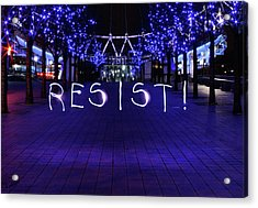 Resistance Light Painting Acrylic Print by Susan Maxwell Schmidt