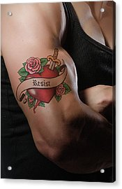Resistance Tattoo Acrylic Print by Susan Maxwell Schmidt