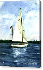 Acrylic Print featuring the painting Resolute by Nancy Patterson