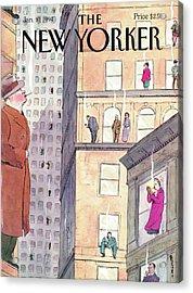 New Yorker January 10th, 1994 Acrylic Print by Barry Blitt