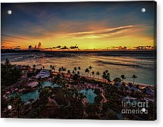 Acrylic Print featuring the photograph Resort Sunset by Ray Shiu