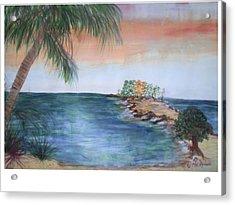 Resort The Keys Acrylic Print by Hal Newhouser