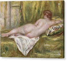 Rest After The Bath Acrylic Print by Pierre Auguste Renoir