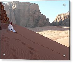 Rest At Wadi Rum Acrylic Print by James Lukashenko