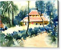 Rest House Acrylic Print by Anil Nene