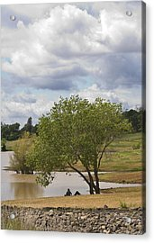 Rest Stop By The Lake Acrylic Print by Charlie Osborn