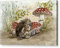 Rest Stop Acrylic Print by Michaela Eaves