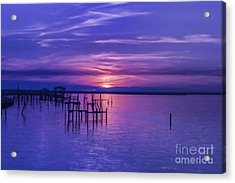 Rest Well World Purple Sunset Acrylic Print