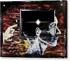 Restart Acrylic Print by Paulo Zerbato