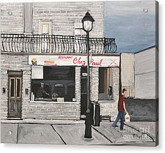 Restaurant Chez Paul Pointe St. Charles Acrylic Print by Reb Frost