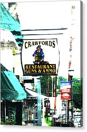 Restaurant Guns And  Ammo  Acrylic Print by Steven Digman