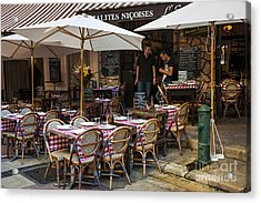 Restaurant On Rue Pairoliere In Nice Acrylic Print by Elena Elisseeva