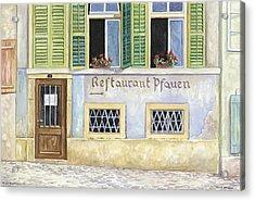 Restaurant Pfauen Acrylic Print by Scott Nelson